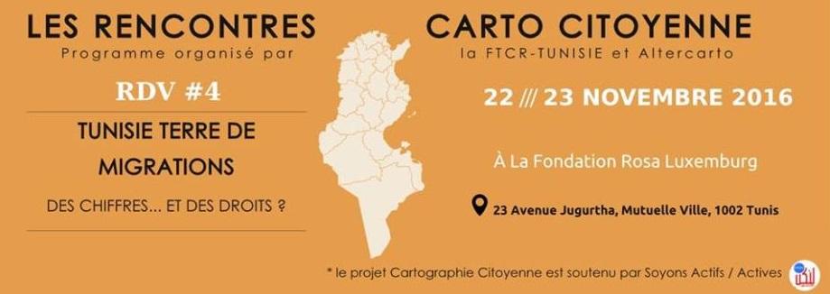 Les Rencontres Carto Citoyennes – RDV #4 : Tunisie Terre de Migrations