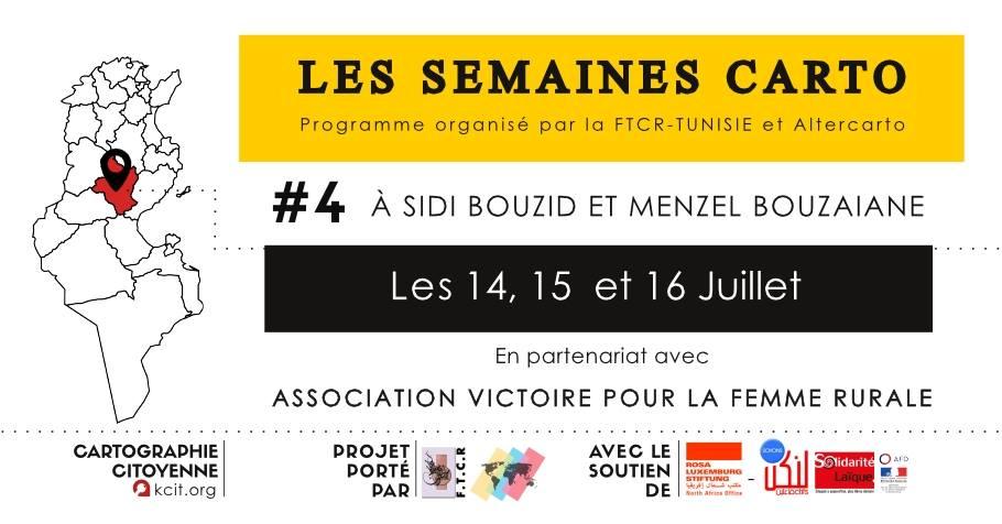 Les semaines CARTO : #4 À Sidi Bouzid et Menzel Bouzaiane